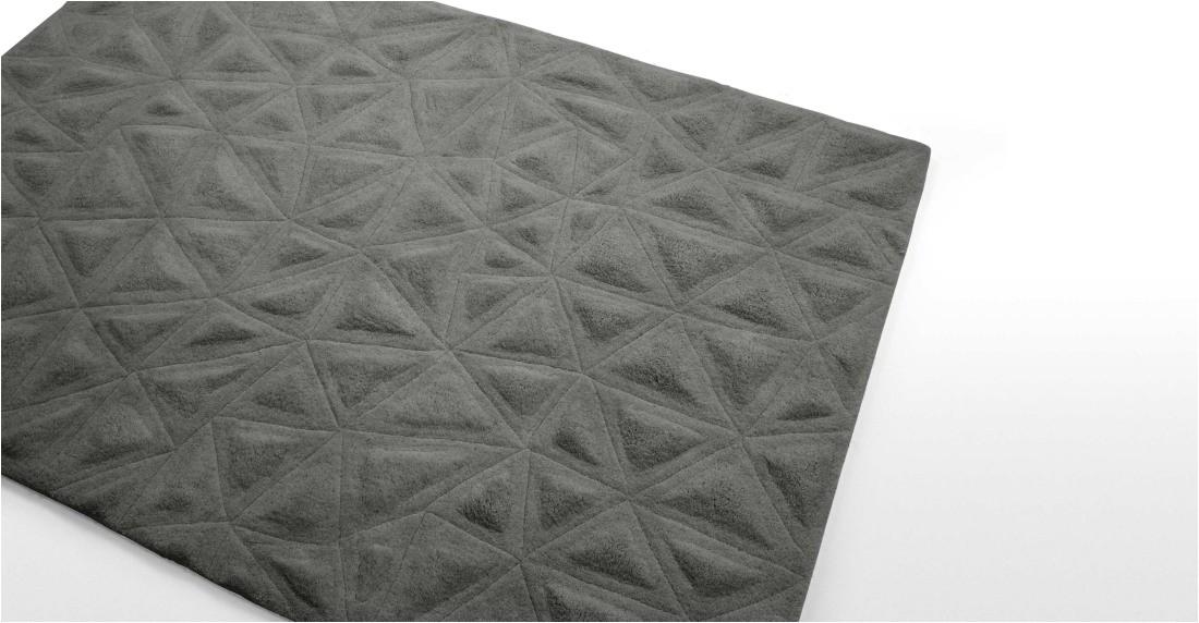 tekari wool rug 160 x 230cm slate