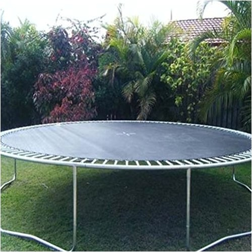 jumping mat replacement for 14 ft round trampoline frame uv protection and 8 stitch lines more durable 96 v rings for 7 inch springs zupapa