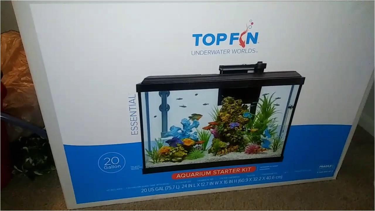 20 Gallon Fish Tank Starter Kit topfin top Fin Essential 20 Gal Aquarium Starter Kit Vid1