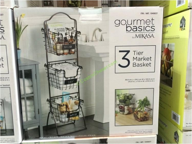 gourmet basics by mikasa 3 tier basket