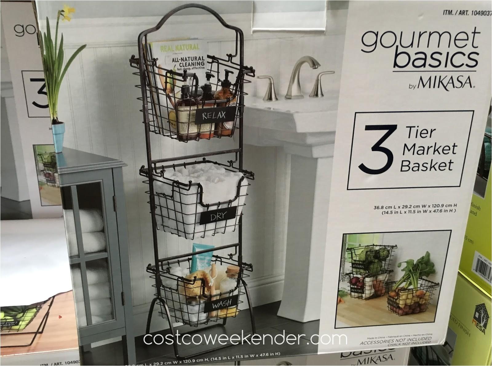 mikasa gourmet basics 3 tier market basket costco 1049037