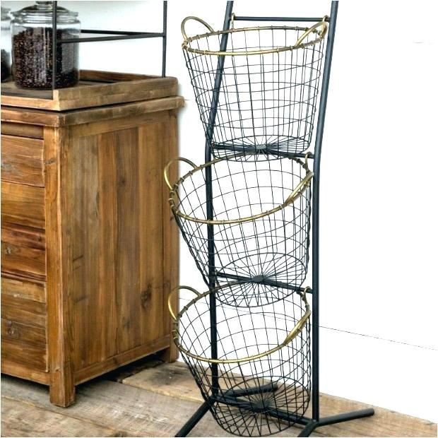tiered basket stand rustic fruit 3 tier floor costco