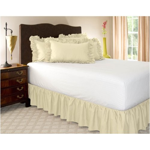 36 Inch Drop Bedskirt Bedskirts King Buy Best King Bone Ruffled Bed Skirt with
