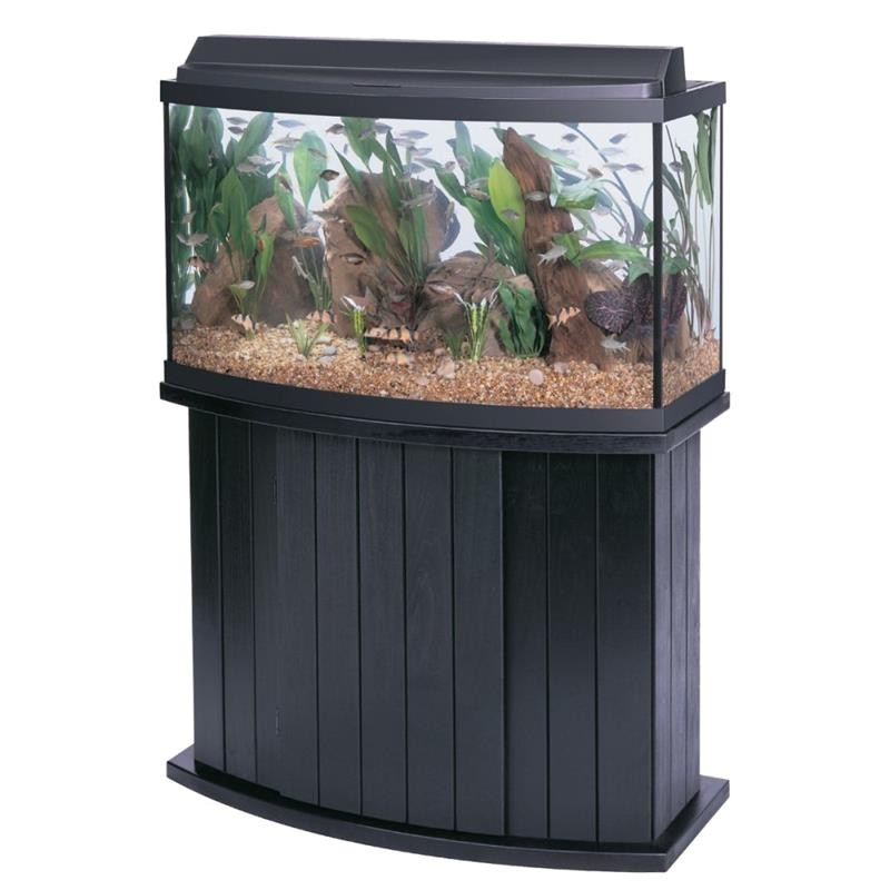 aqueon 46 gallon 36lx16wx21h bow front glass fish tank kit 2018004