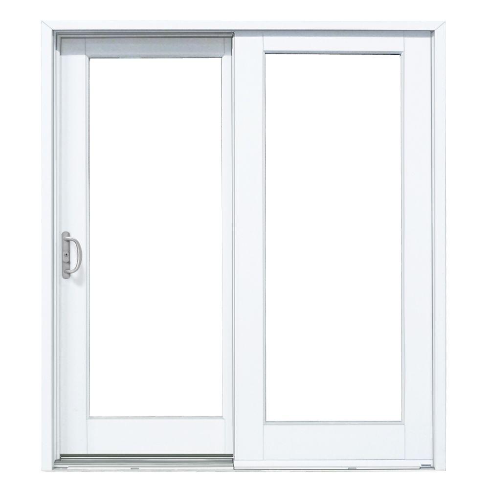 72×76 Sliding Glass Door Masterpiece 60 In X 80 In Composite Left Hand Sliding