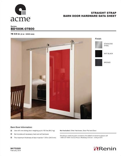 acme sliding door tracks 604