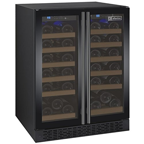 allavino flexcount vswr36 2bwfn black 36 bottle dual zone wine cooler with french doors reviews