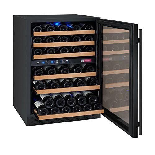 allavino flexcount vswr56 2bwrn black 56 bottle dual zone wine refrigerator review