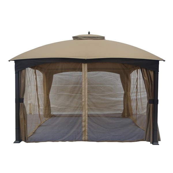 allen roth replacement insect net for 10 ft x 12 ft soft top wicker gazebo g2807844