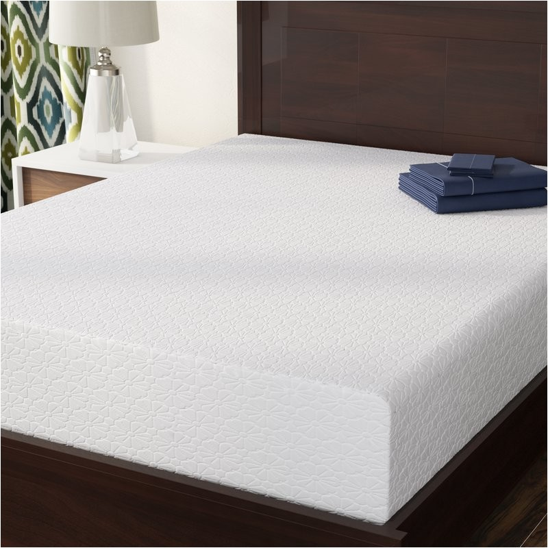 alwyn home 10 medium memory foam mattress anew1598