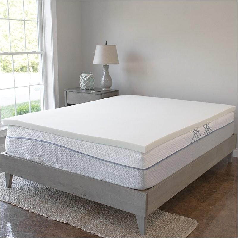 alwyn home visco elastic memory foam mattress topper anew1433