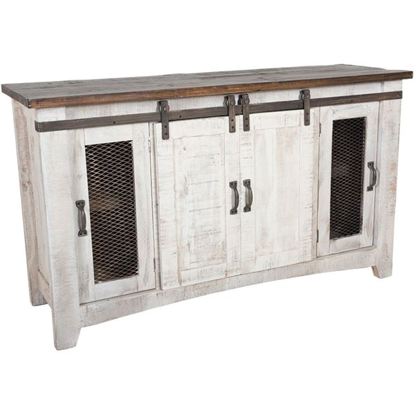 pueblo 6034 barn door tv stand