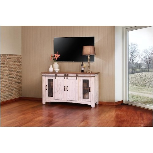 American Furniture Warehouse Pueblo Tv Stand International Furniture Direct Pueblo 60 Quot White Tv Console