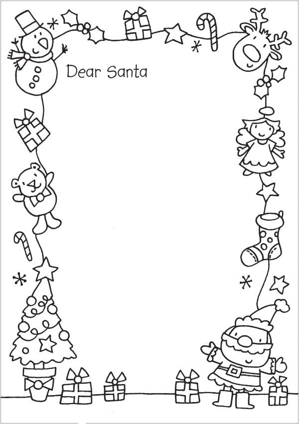 cartas para papa noel con dibujos navidenos para colorear