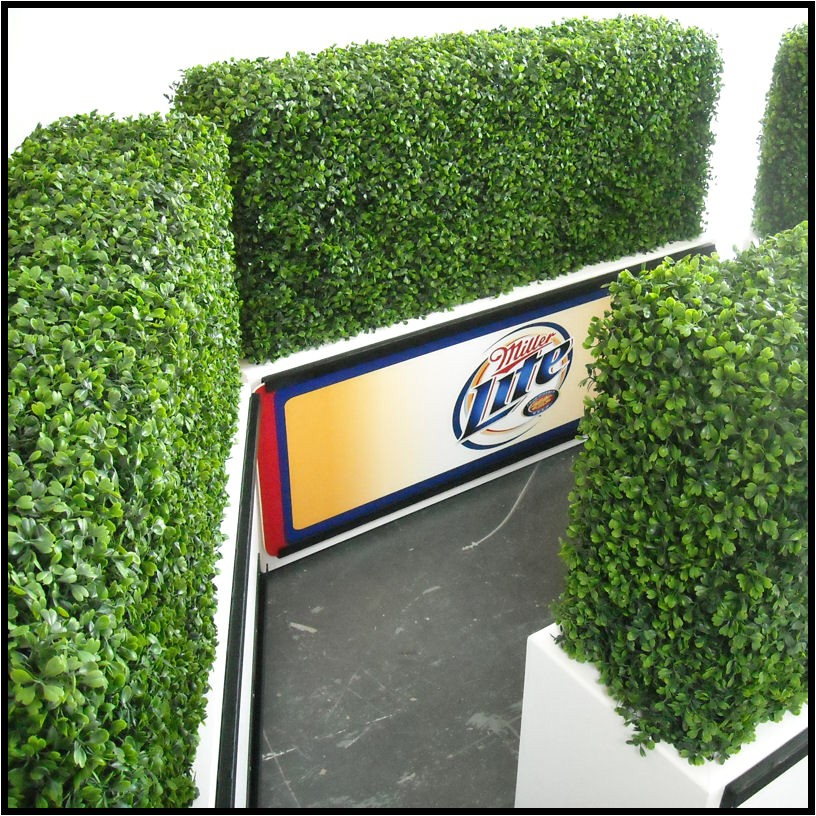 outdoor artificial hedges