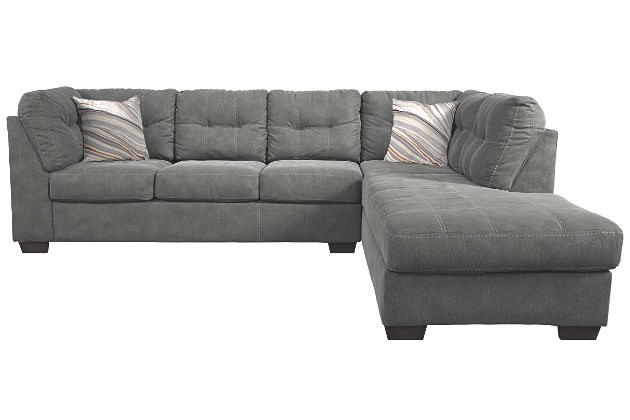 cmpid cse pitkin sectional and pillows by ashley homestore gray