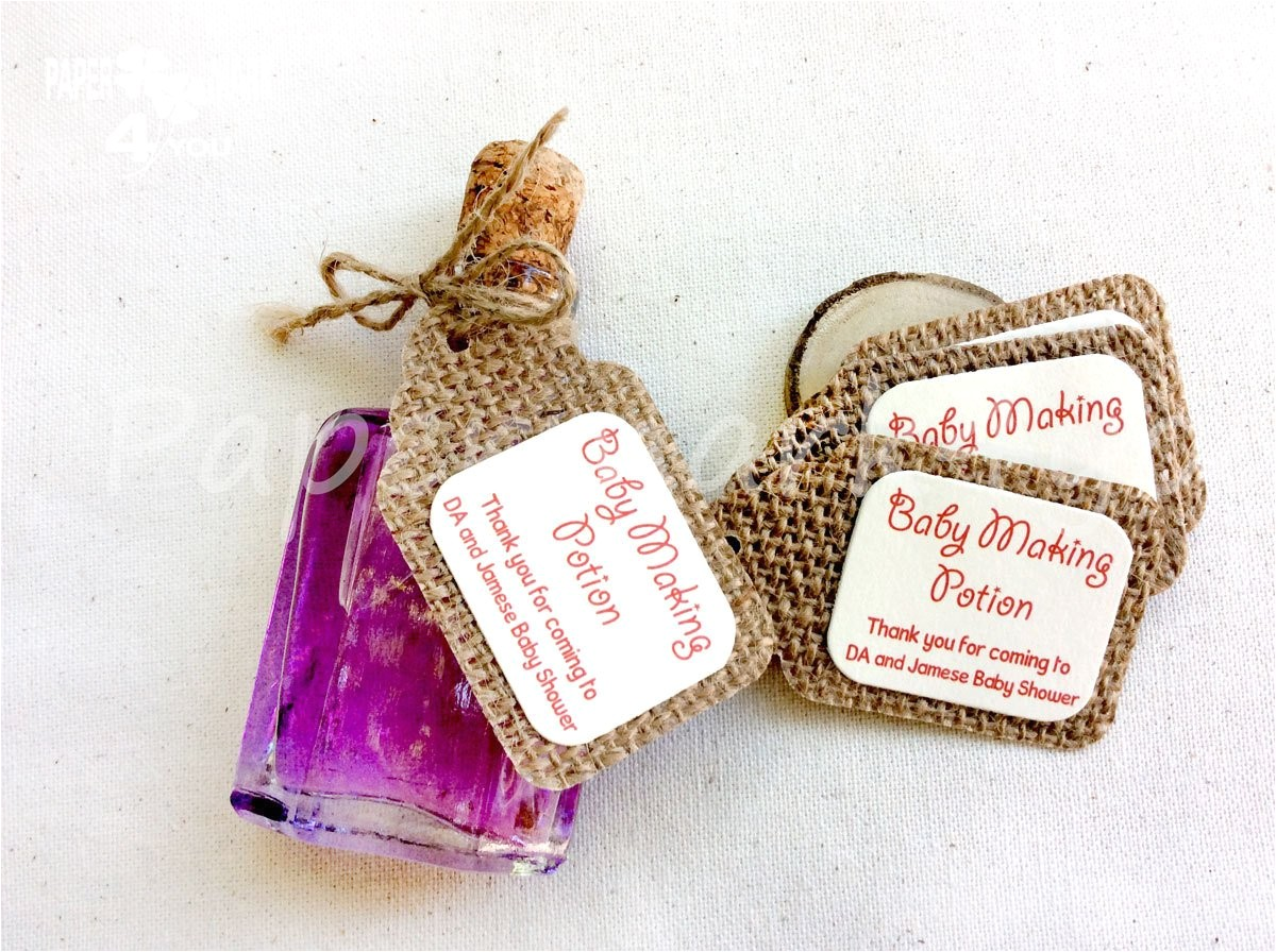 25 burlap baby making potion burlap gift