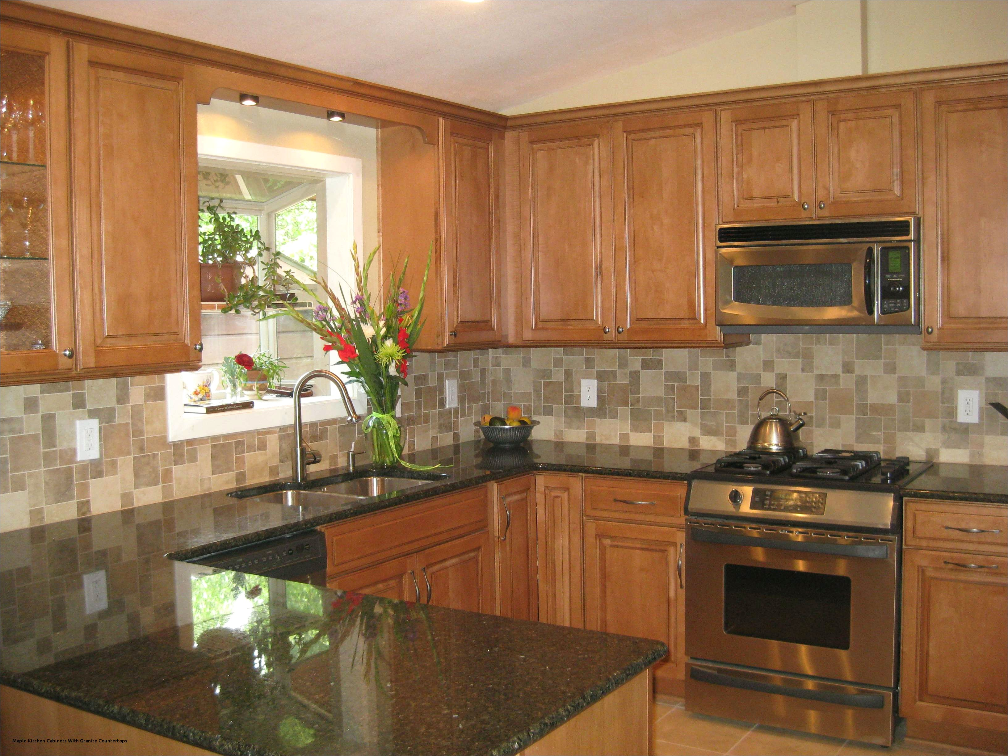 Backsplash Ideas for Black Granite Countertops and Maple Cabinets Maple Kitchen Cabinets with Granite Countertops Best 17 Best