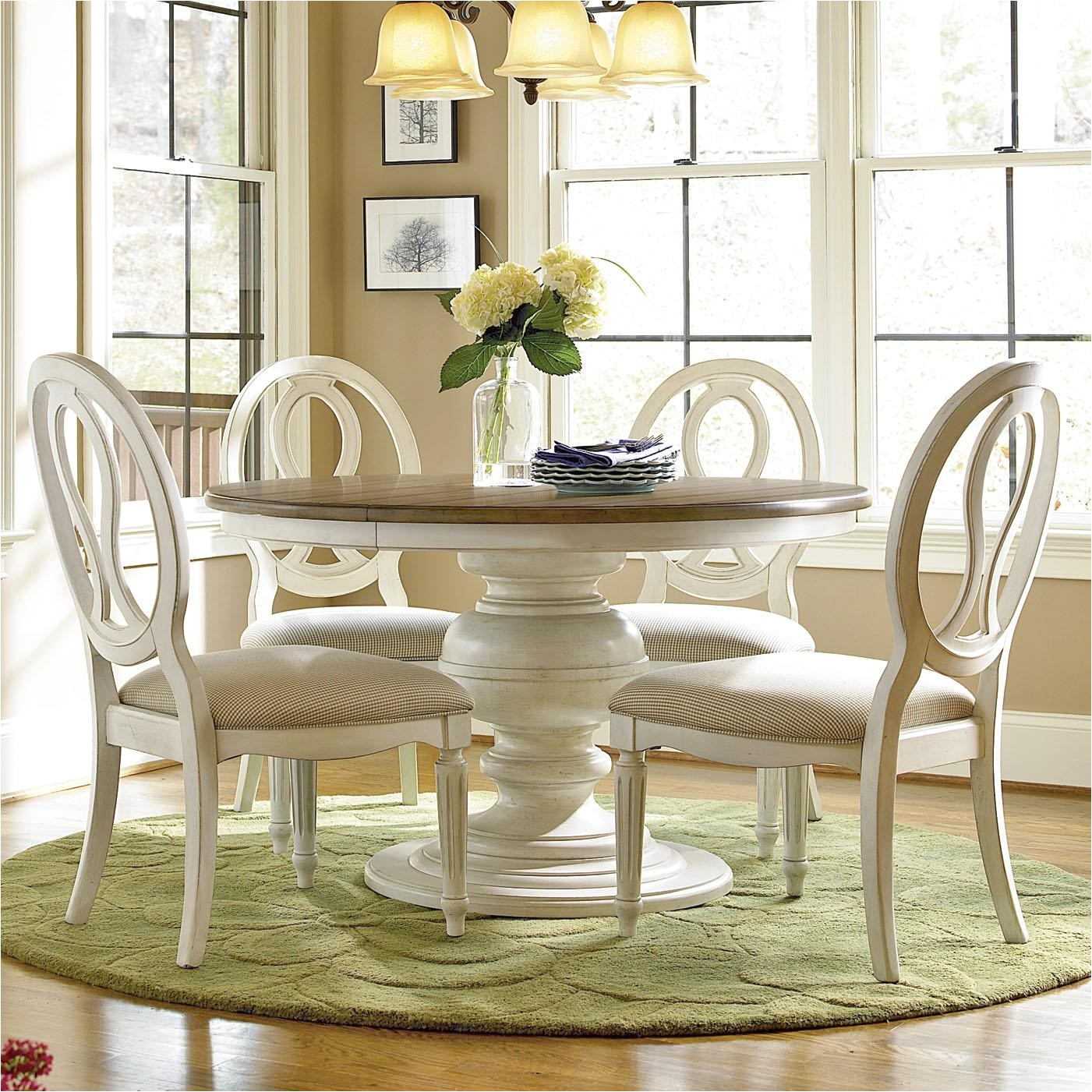 Baers Dining Room Sets Universal Summer Hill 5 Piece Dining Set with Pierced Back