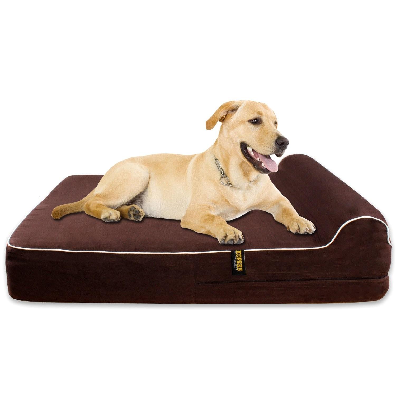 amazoncom barksbar large gray orthopedic dog bed x dog beds and f843d98789d42745
