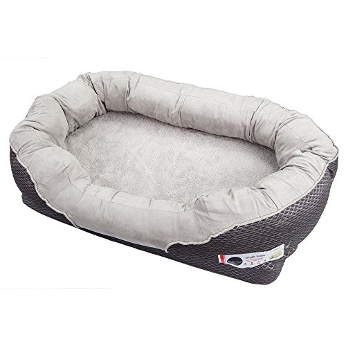 Barksbar Large Gray orthopedic Dog Bed Barksbar Large Gray orthopedic Dog Bed 40 X 30 Inches