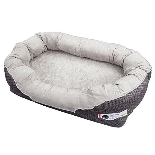 Barksbar orthopedic Dog Bed Barksbar Gray orthopedic Dog Bed Snuggly Sleeper with