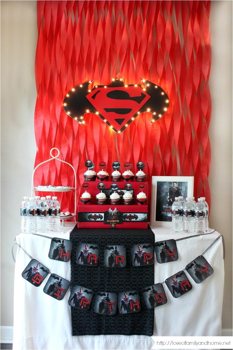 batman vs superman birthday party