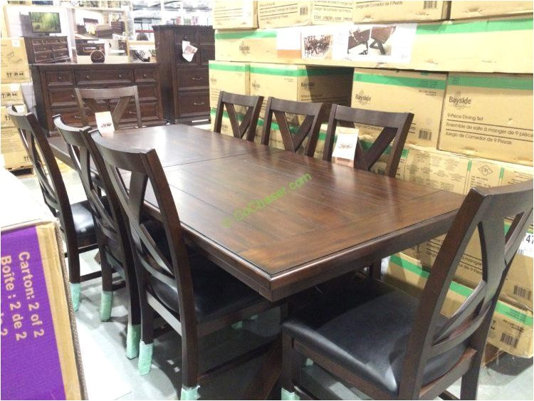 bayside furnishings 9pc dining set model 0078 a