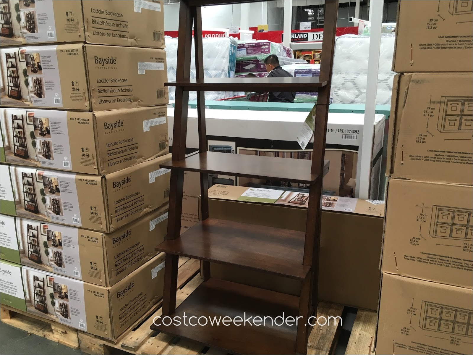 bayside furnishings ladder bookcase costco 697334