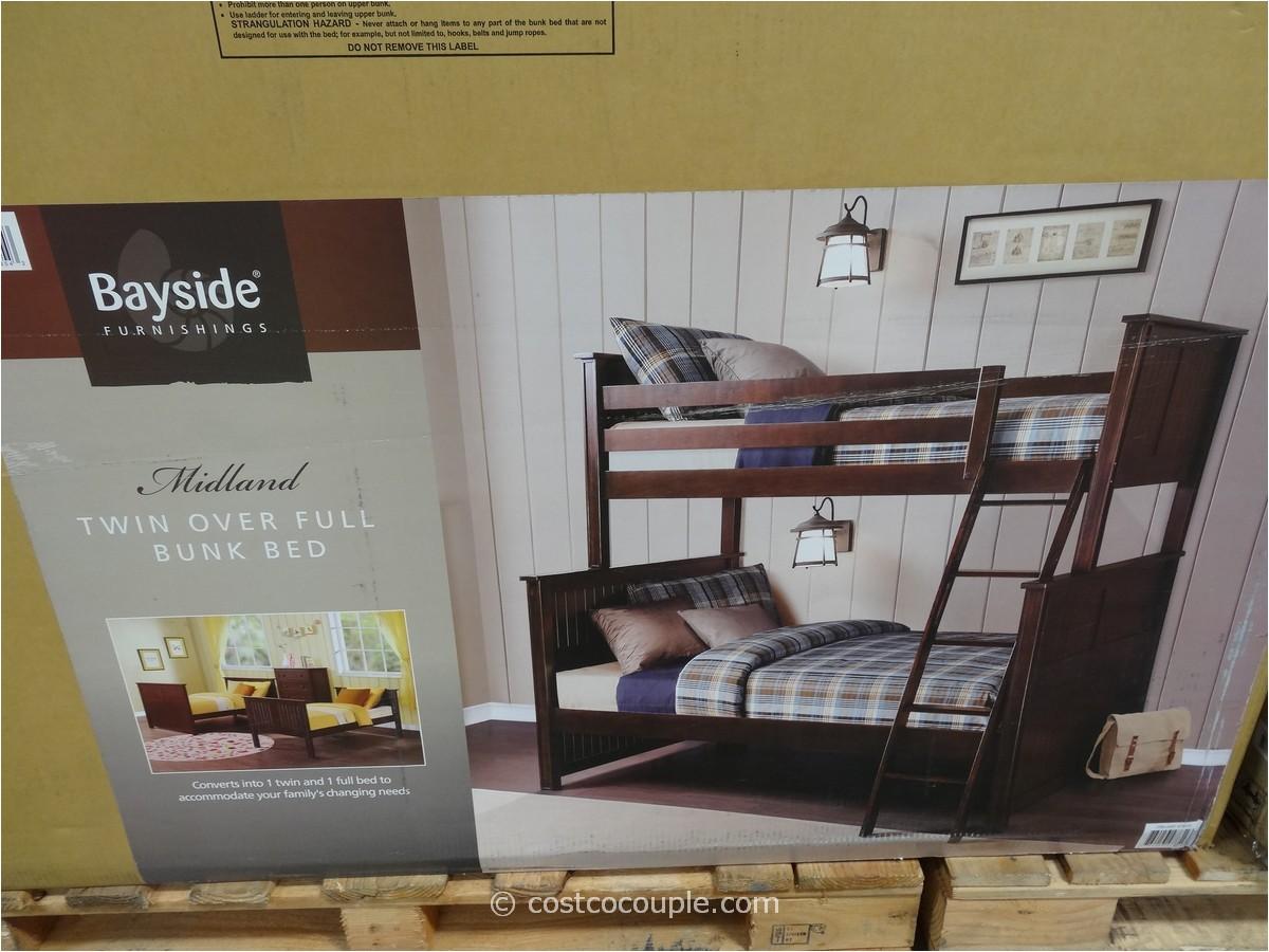 bayside furnishings midland twin over full bunkbed