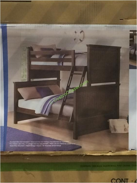 bayside furnishings twin over full bunk bed
