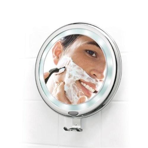 9 lighted fogless shower mirror