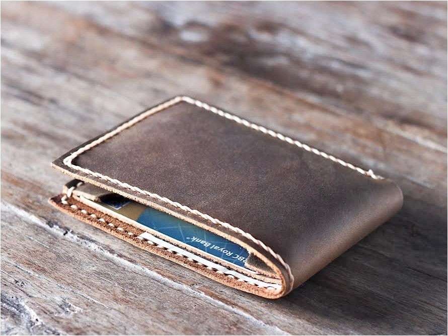 handmade leather wallet best groomsmen gifts