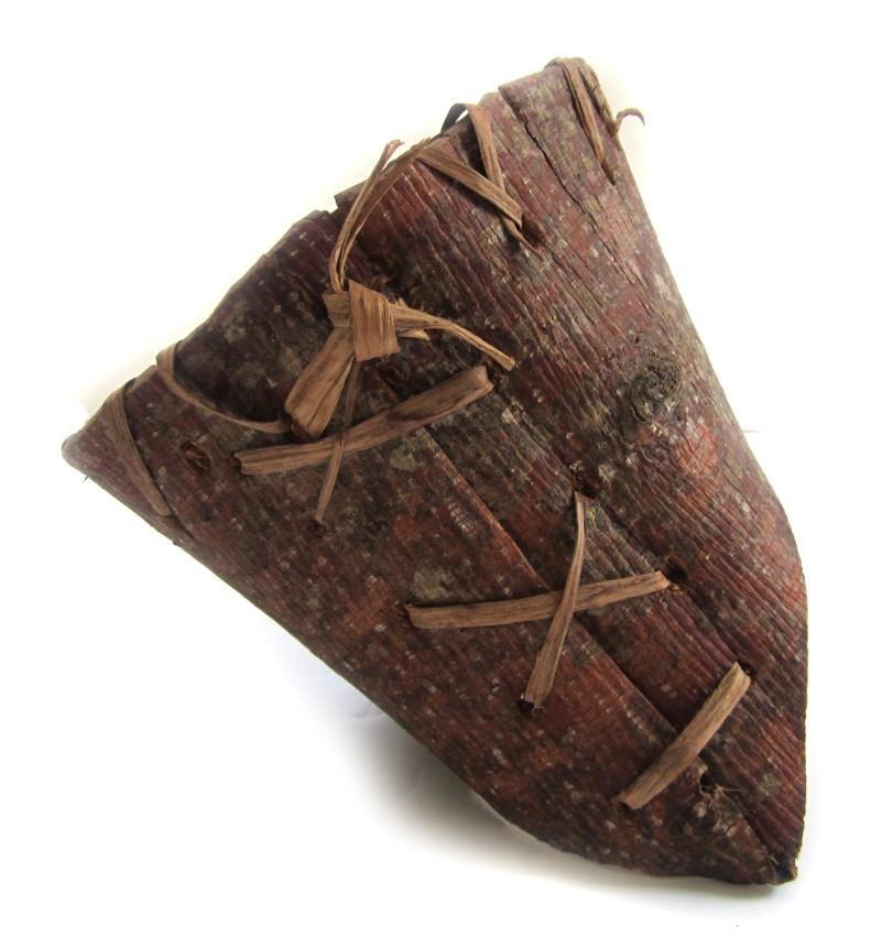 native american birch bark berry carrying basket