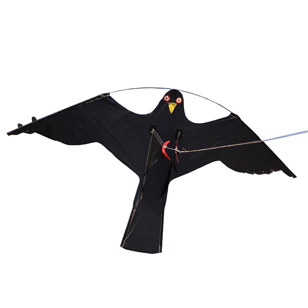 Black Hawk Pest Control Rockford Il Bird Scarer Flying Hawk Kite for Garden Scarecrow Yard and House