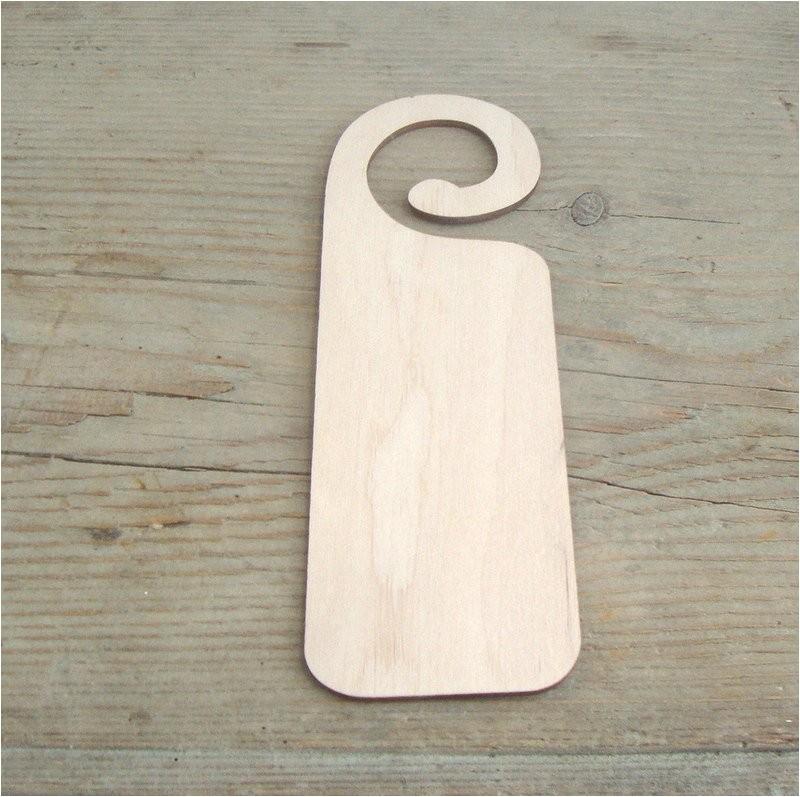wooden door hanger wood blank hanging