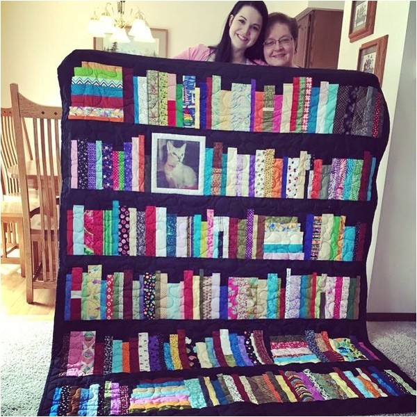the perfect keepsake bookshelf memory quilt 2