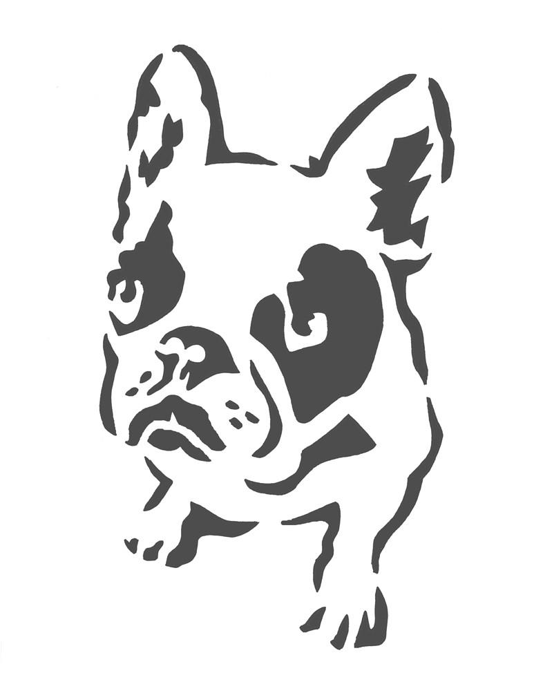 boston terrier stencil free stencil