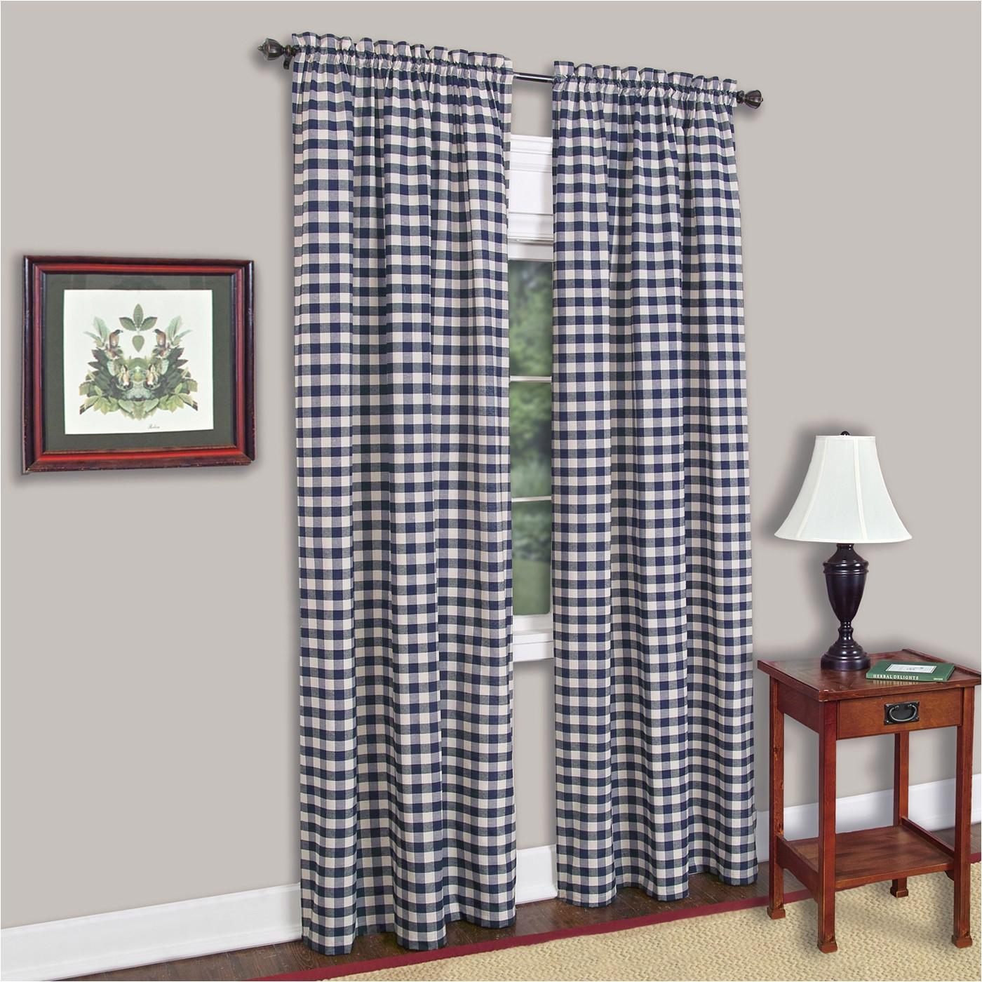 achim buffalo check rod pocket curtain panel g1536999