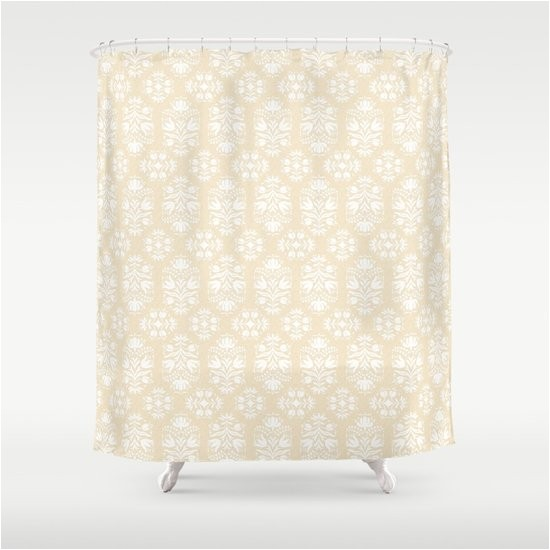 burlap and lace damask shower curtain