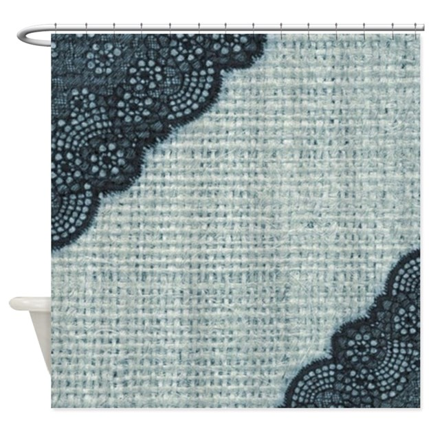 ocean blue burlap and lace shower curtain 1628885432