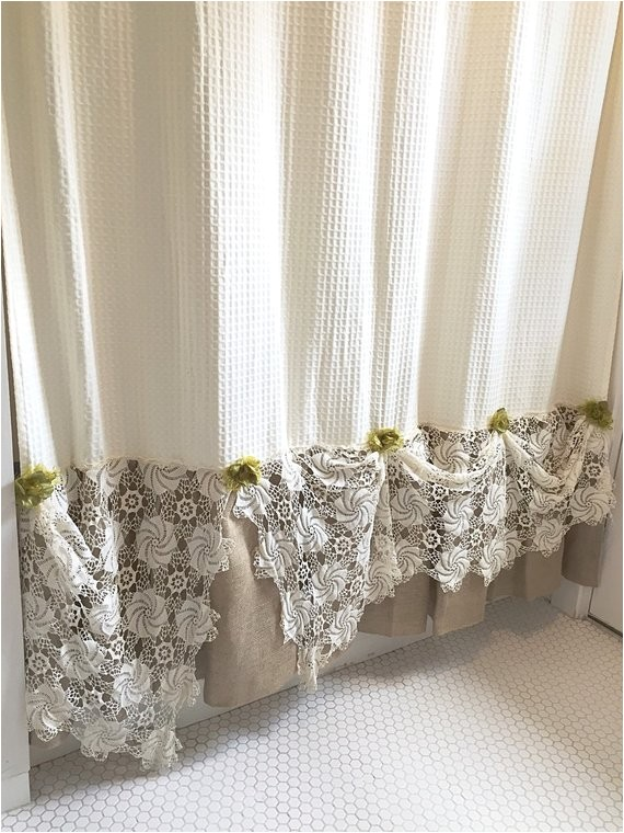 burlap ruffle shower curtain natural ref shop home active 18