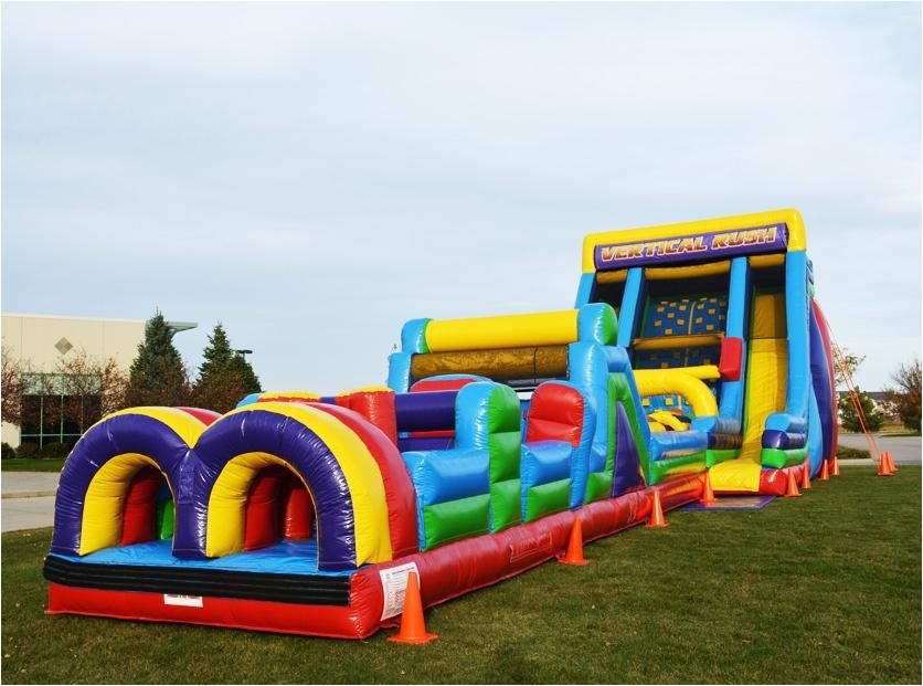 vertical rush 30ft obstacle course combo