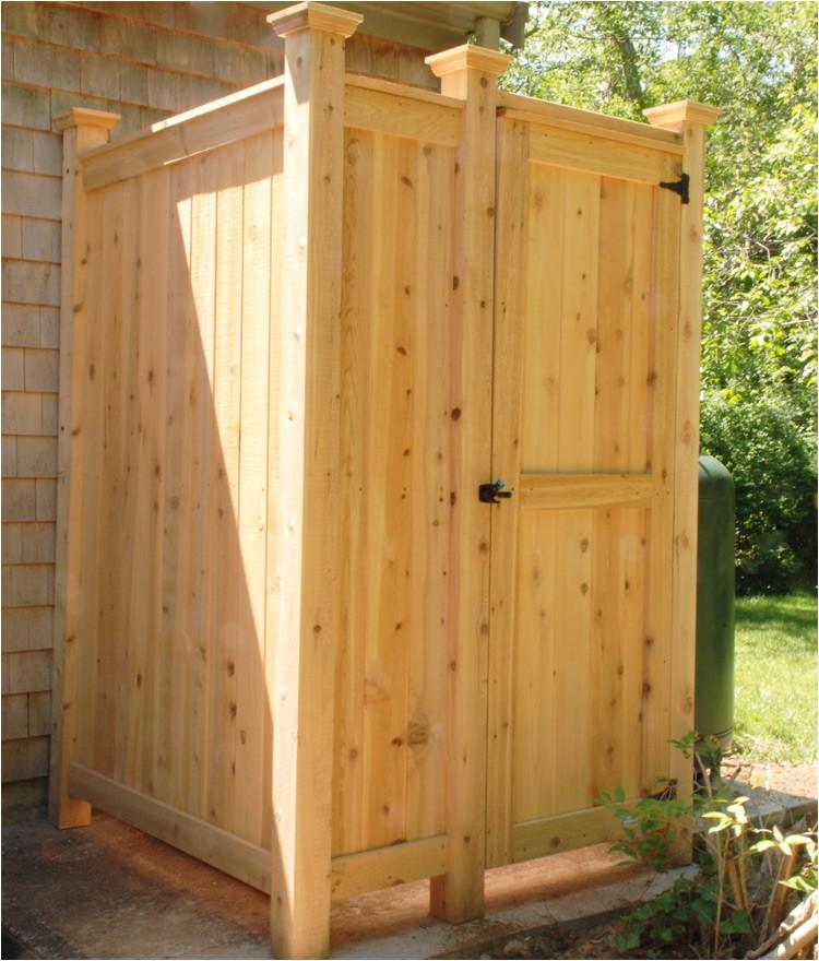 Cape Cod Outdoor Shower Enclosure Kit Outdoor Shower Enclosure Cedar Showers