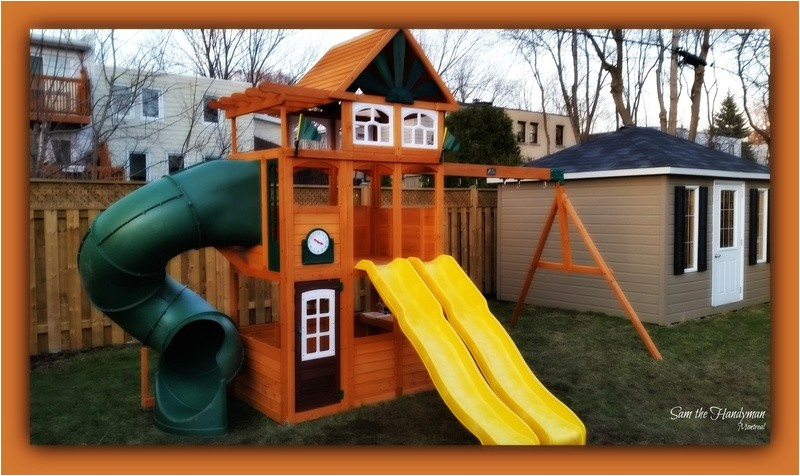 43927981 cedar summit spring valley deluxe playset installation sam the handyman montreal a hampstead 2016 project