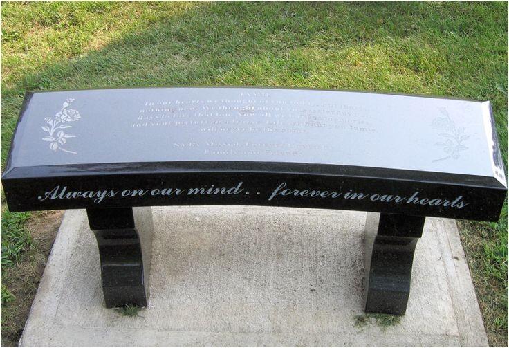 headstones memorial benches mom