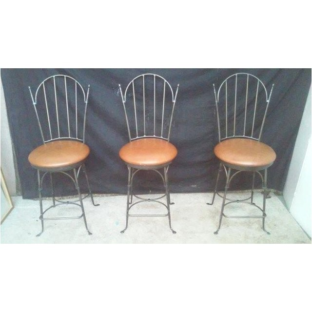 charleston forge shaker arch iron bar stools