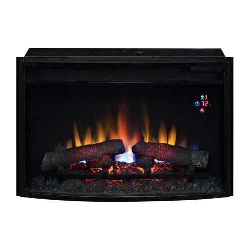 classicflamecurvedfront25inchelectricfireplaceinsertwithremote25ef023gra