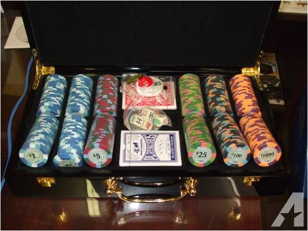 poker chip sets brand new real clay chips 65 28184445