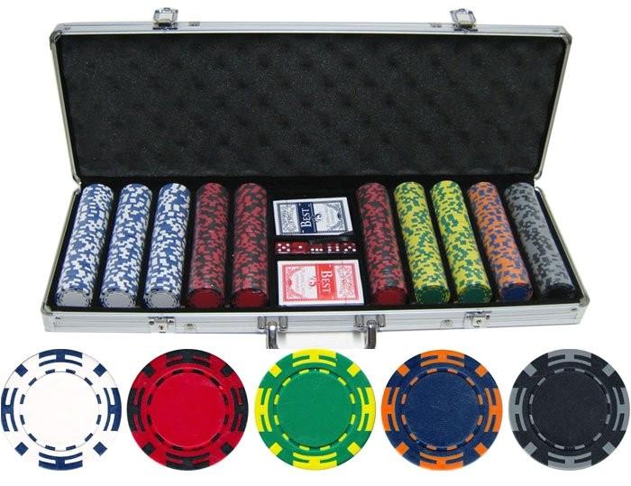 135g 500pc z striped clay poker